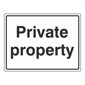 Private Property Sign (Large Landscape)