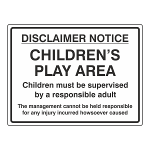 Children's' Play Area Sign (Large Landscape)