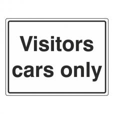 Visitors Cars Only Sign (Large Landscape)