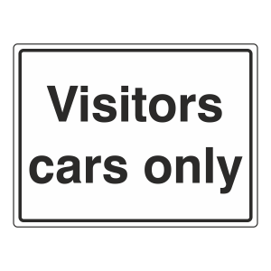 Visitors Cars Only Sign (Large Landscape)