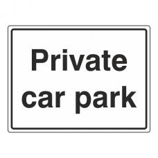 Private Car Park Sign (Large Landscape)
