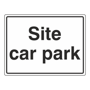 Site Car Park Sign (Large Landscape)