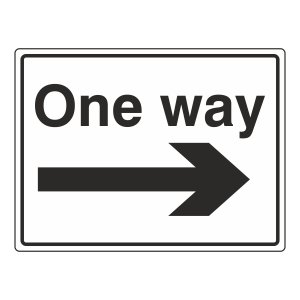 One Way Arrow Right Sign (Large Landscape)