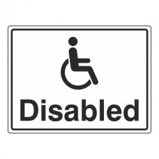 Disabled Parking Sign (Large Landscape)