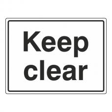 Keep Clear General Sign (Large Landscape)