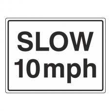 Slow 10mph Sign (Large Landscape)