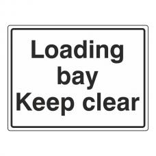 Loading Bay Keep Clear Sign (Large Landscape)