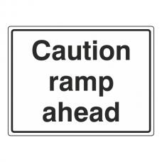 Caution Ramp Ahead General Sign (Large Landscape)