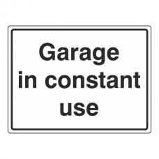 Garage In Constant Use General Sign (Large Landscape)