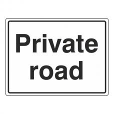Private Road General Sign (Large Landscape)