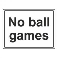 No Ball Games General Sign (Large Landscape)