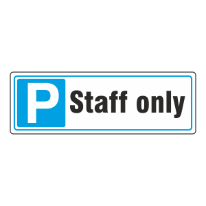 Parking - Staff Only Sign (Landscape)