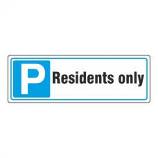 Parking - Residents Only Sign (Landscape)