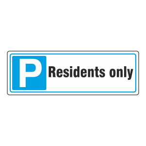 Parking - Residents Only Sign (Landscape)