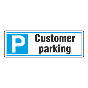 Parking - Customer Parking Sign (Landscape)