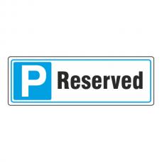 Parking - Reserved Sign (Landscape)