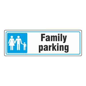 Parking - Family Parking Sign (Landscape)