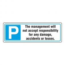 Parking - Disclaimer Sign (Landscape)