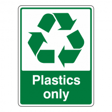 Plastics Only Recycle Sign