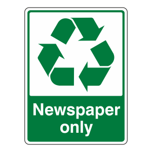 Newspaper Waste Recycle Sign