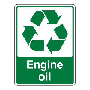 Engine Oil Recycle Sign