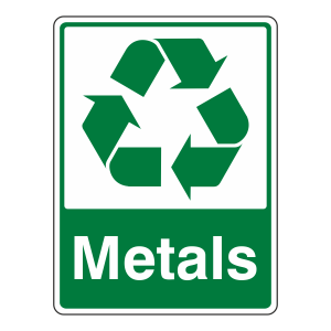 Metals Recycle Sign