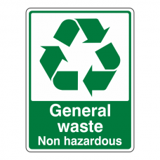 General Waste Non Hazardous Recycle Sign