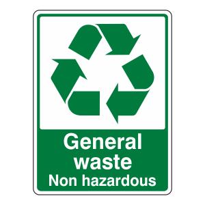 General Waste Non Hazardous Recycle Sign