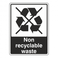Non Recyclable Waste Recycle Sign