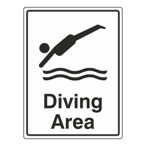Diving Area Sign