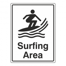 Surfing Area Sign
