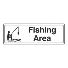 Fishing Area Sign (Landscape)