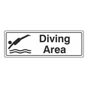 Diving Area Sign (Landscape)