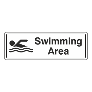 Swimming Area Sign (Landscape)