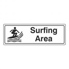 Surfing Area Sign (Landscape)