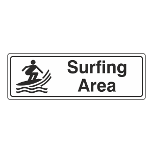 Surfing Area Sign (Landscape)