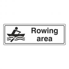 Rowing Area Sign (Landscape)