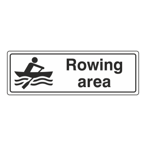 Rowing Area Sign (Landscape)