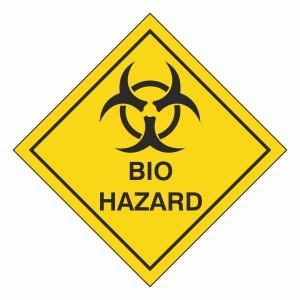 Bio Hazard Hazard Warning Label