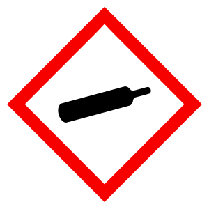 Gases Under Pressure - CLP Sign (COSHH)