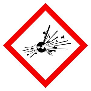 Explosive - CLP Sign (COSHH)