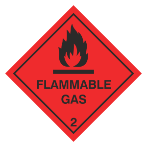 Flammable Gas Hazard Warning Label