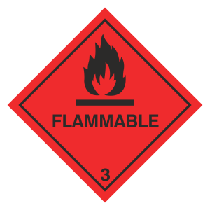 Flammable Hazard Warning Label
