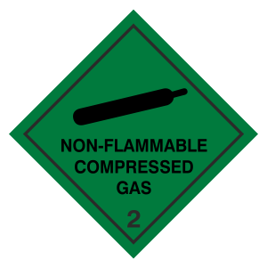 Non-Flammable Compressed Gas Hazard Warning Label