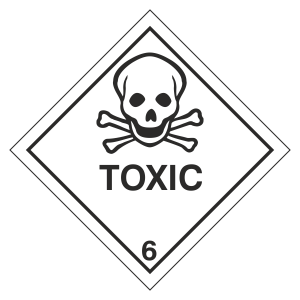 Toxic Hazard Warning Label