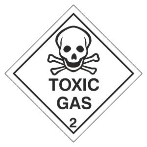 Toxic Gas Hazard Warning Label
