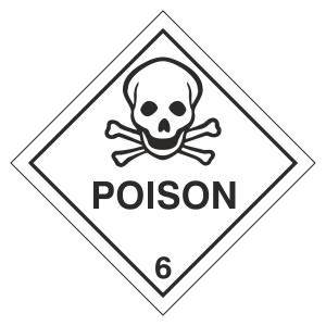Poison Hazard Warning Label