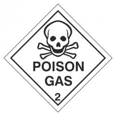 Poison Gas Hazard Warning Label