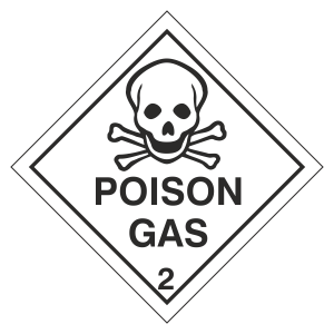 Poison Gas Hazard Warning Label