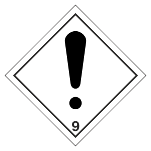 Warning Diamond Hazard Warning Label